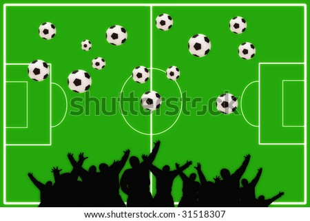 Too many football - stock photo
