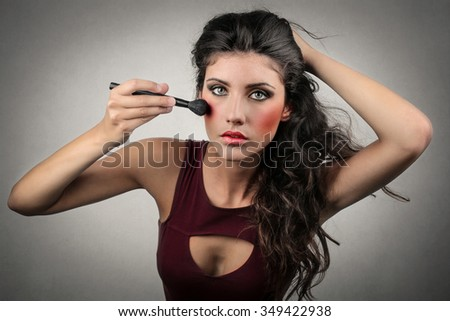 Too much make up - stock photo