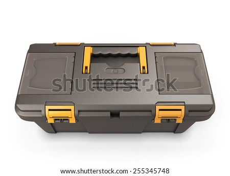 Tool box isolated on white background. 3d render image.