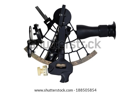 tool for navigation (coordinate of ship with stars) - stock photo
