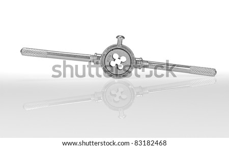 Tool for threading. Isolated on a white background.