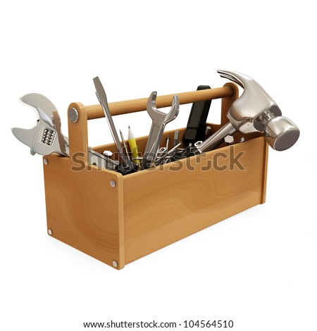 Tool Kit isolated on white background