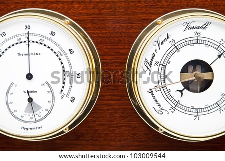 tool to measure time and temperature - stock photo
