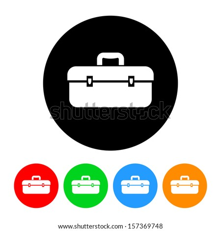 toolbox icon. toolbox icon with color variations raster version