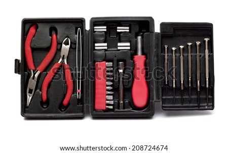 toolbox on the white background