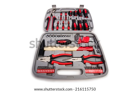 Toolkit isolated on the white background