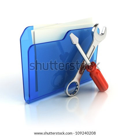 Tools and settings icon - stock photo