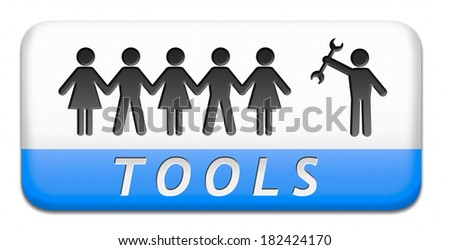 Tools button or website icon user service banner