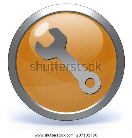 tools circular icon on white background