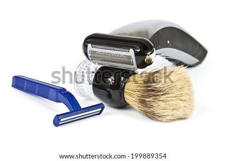 Tools for maintaining personal hygiene of the man's face - stock photo