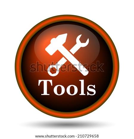 Tools icon. Internet button on white background.  - stock photo