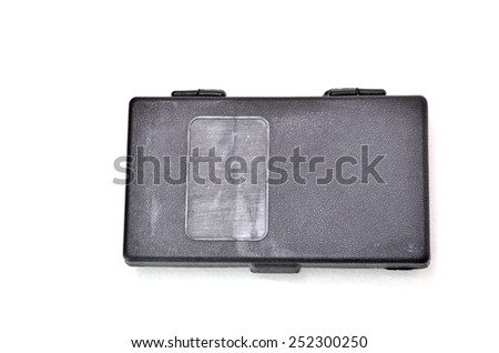 Tools Storage Box. Shoot on white background. Focus on the closes distance. Shallow depth of field.