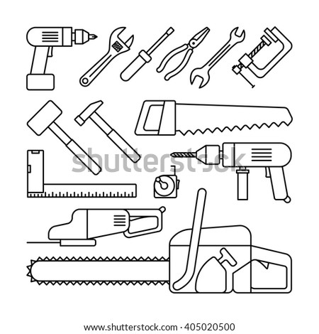 Tools 593168531 on Cartoon Building Hammer And Nails