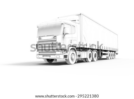 Toon 3d truck isolated on a white background