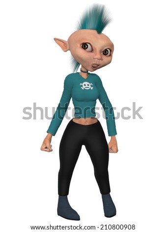 Toon Figure - Punk - stock photo