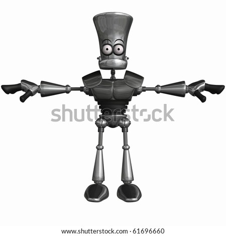 Toon Robot - stock photo