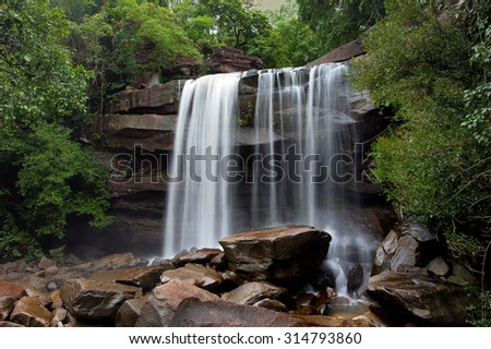 Toong Na Muong Waterfall in Ubon Ratchathani, Thailand - stock photo