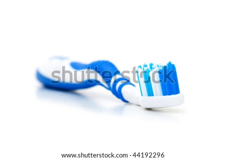Tooth brush isolated on the white background - stock photo