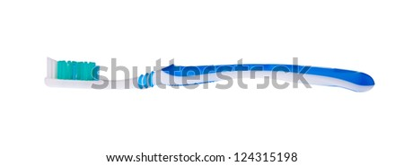 tooth brush on the background. - stock photo