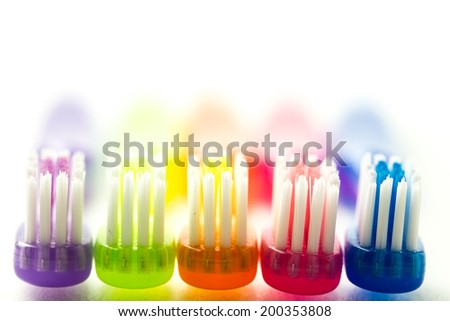 tooth brush shooting on white background - stock photo