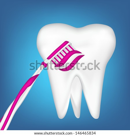 tooth design element - stock photo