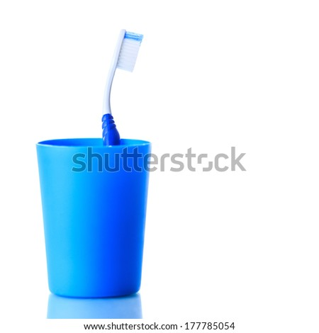 Toothbrush in holder