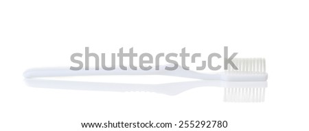 toothbrush isolated on a white background - stock photo