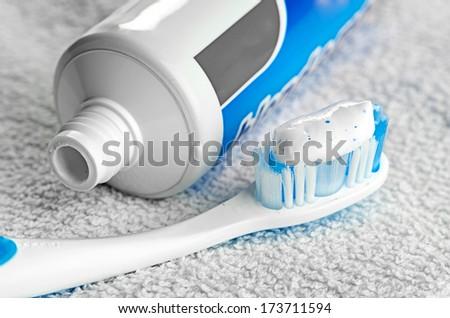 Toothpaste - stock photo