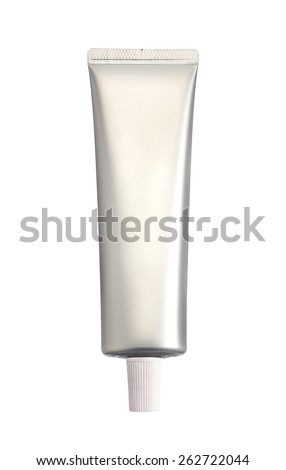 toothpaste isolated on a white background - stock photo