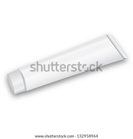 toothpaste tube isolated on white background