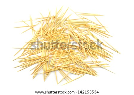 Toothpick on a white background - stock photo