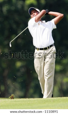 Top Asian golf player, Thaworn Wiratchant of Thailand - stock photo