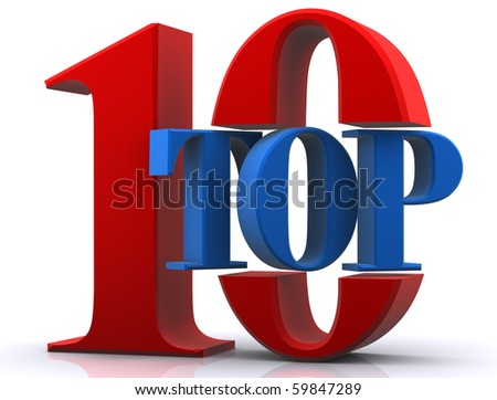 Top 10 Award - stock photo