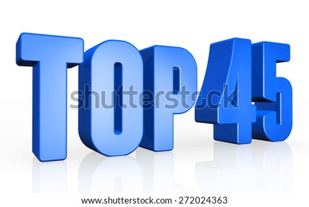Top 45 - 3d illustration on white background