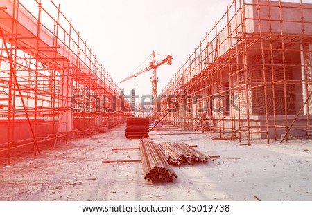 top of a construction site - stock photo