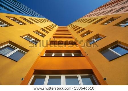 Top of apartment building, Ostrava, Czech Republic - stock photo