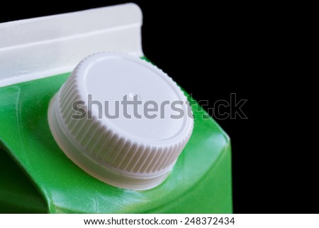 Top of cardboard milk or drink carton - stock photo