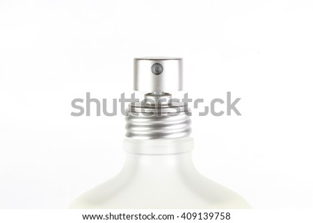 top of perfume spray bottle isolated on white background - stock photo