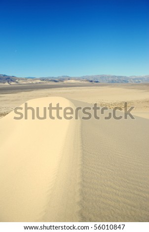Top of Sand Dune - stock photo