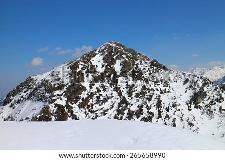 Top of Shober peak, Reiteralm, Austria  - stock photo