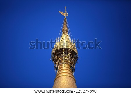 Top of Shwedagon Pagoda, Yangon, Myanmar