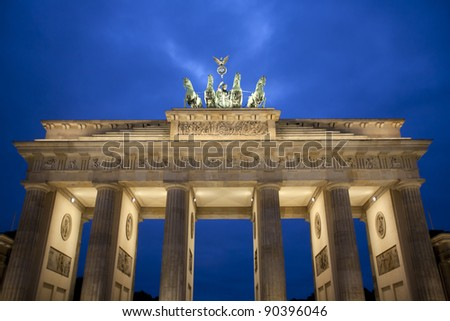 Top of the Brandenburg Gate, Berlin, Germany - stock photo