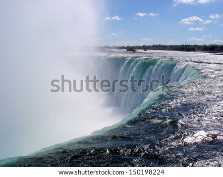Top of the Horseshoe Falls                               - stock photo