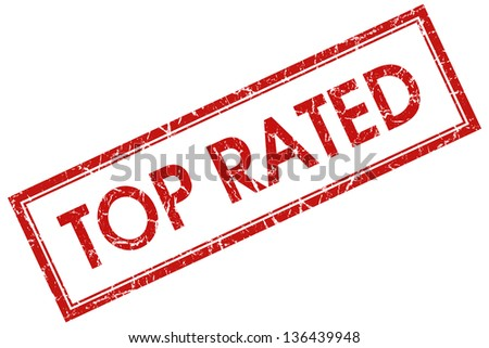 top rated stamp - stock photo