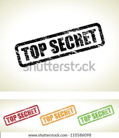 top secret background - stock photo