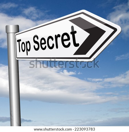 top secret confidential and classified information private property or information sign