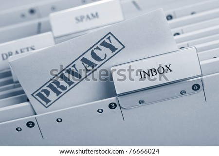 Top Secret Email - stock photo