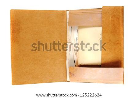 top secret folder isolated on white background - stock photo