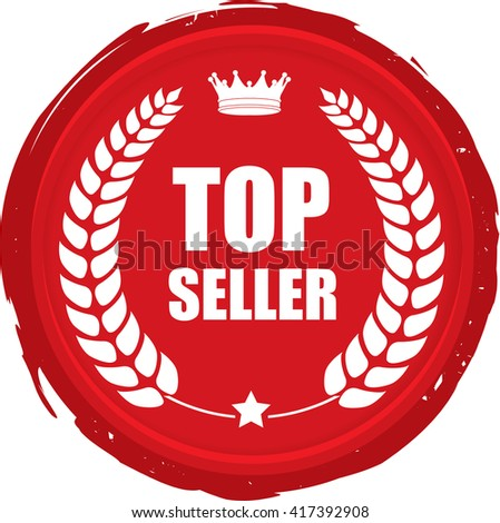 Top seller stamp. - stock photo
