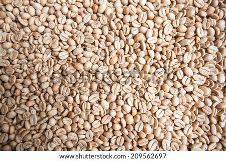 Top side of Coffee bean texture background